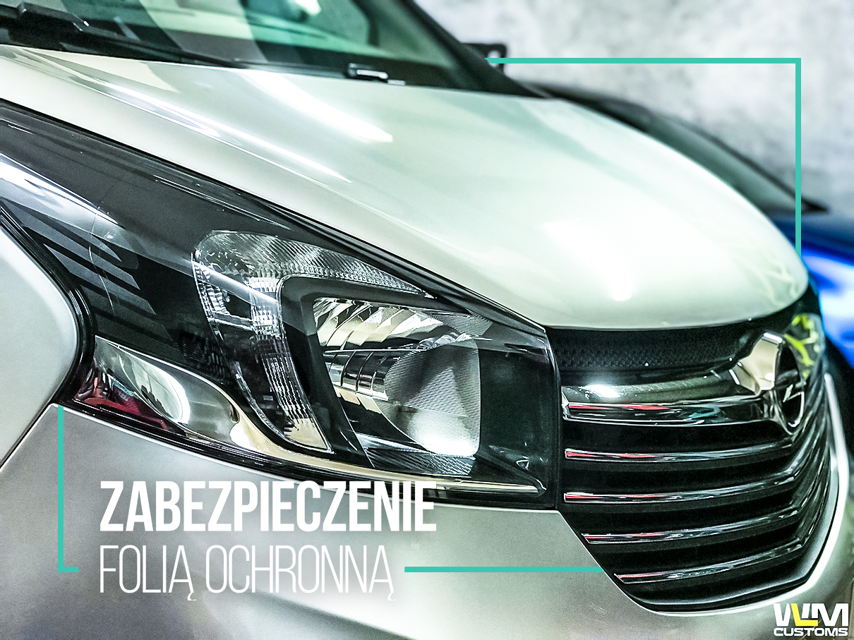 Opel Vivaro - zabezpieczenie newralgicznych miejsc folią ochronną