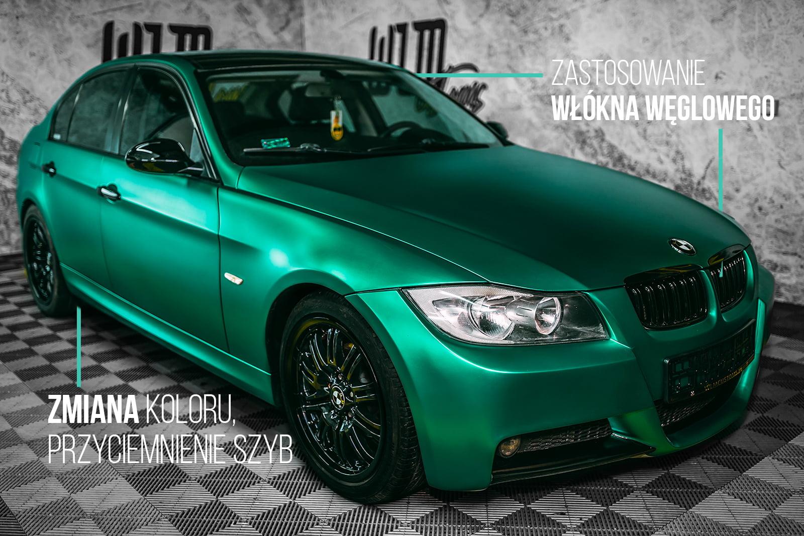 BMW 3 E90 Sedan – tuning optyczny oraz wykonanie elementów z carbonu by WLM Customs