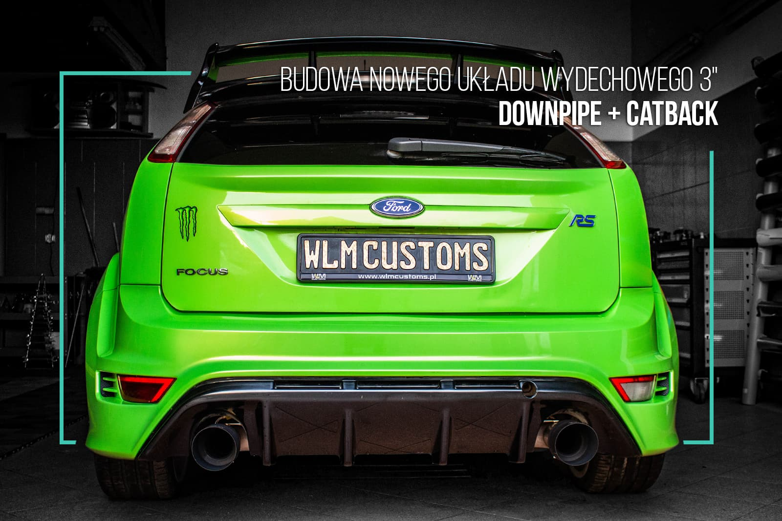 Performance GREEN - Ford Focus RS mk2 by WLM Customs