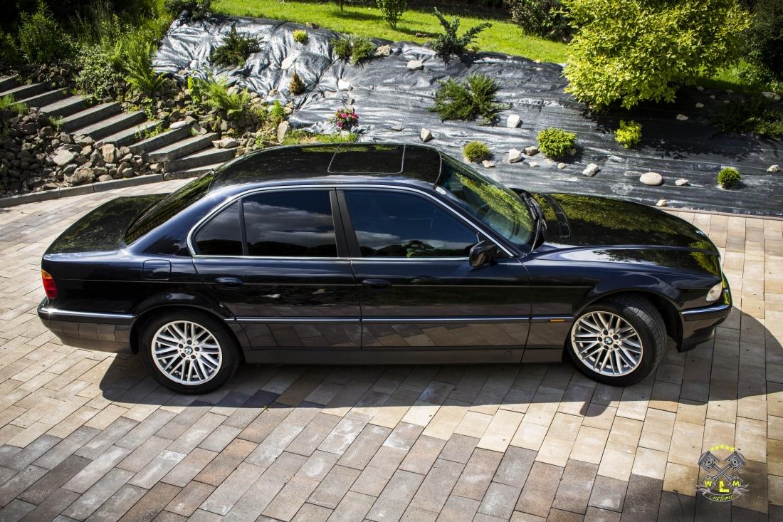 BMW 7 E38 - Polerowanie lakieru, przyciemnienie szyb oraz konserwacja wnętrza by WLM Customs